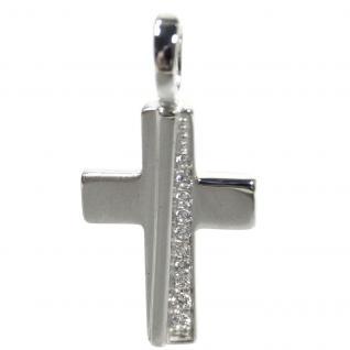 Basic Silber SKE61 Damen Anhänger Kreuz Silber Zirkonia