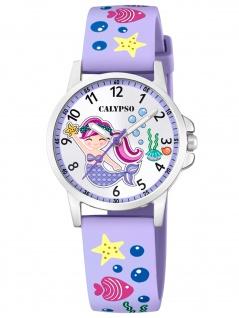 Calypso K5782/2 Meerjungfrau Uhr Mädchen Kinderuhr Kunststoff lila