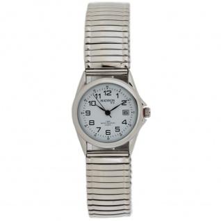 Madison MAD-005 Uhr Damenuhr Zugband Datum silber