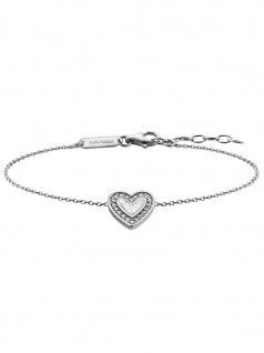Julie Julsen JJBR0322.1 Damen Armband Herz Sterling-Silber 925 19 cm