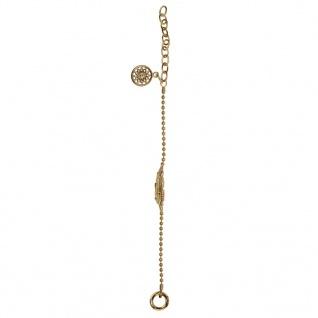 Traumfänger TFB03GO Damen Armband Feder Edelstahl Gold 26 cm