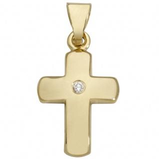 Basic Gold K25 Kinder Anhänger Kreuz 14 Karat (585) Gelbgold