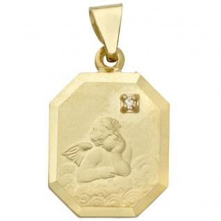 Basic Gold EN24 Kinder Anhänger Schutzengel 14 Karat (585) Gold