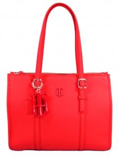 Tommy Hilfiger Damen Handtasche Tasche TH Chic S Satchel Orange