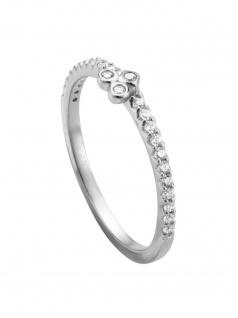 Esprit ESRG00531118 Damen Ring Play Silber Weiß 56 (17.8)