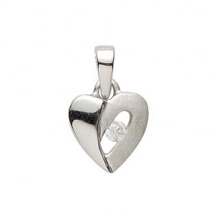 Basic Silber 21.1182S Damen Anhänger Herz Silber Zirkonia weiß