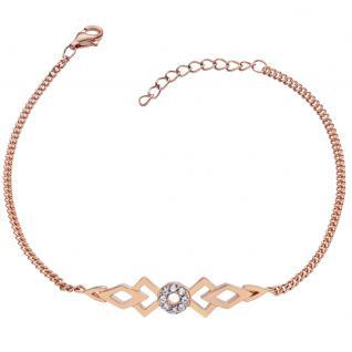 GOOIX 914-06384 Damen Armband Sterling-Silber 925 Rose Weiß 20 cm