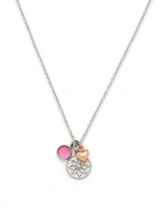Leonardo 016914 Damen Collier Herz Florido Bicolor Rose Pink 45 cm