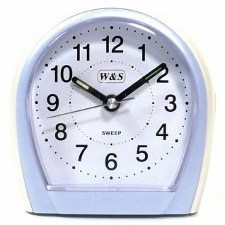 W&S Wecker 201354-weiß leise Sekunde