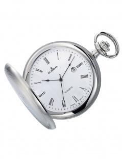 Dugena 4460304-1 Taschenuhr Savonette mit Kette Uhr Herrenuhr Datum