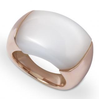 GOOIX 444-05729 Damen Ring Edelstahl Rose Weiß 54 (17.2)