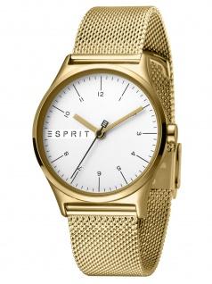 Esprit ES1L034M0075 Essential Silver Gold Mesh-L Damenuhr Edelstahl