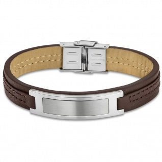 LOTUS LS1808/2/1 Herren Armband Edelstahl Silber Braun 22 cm