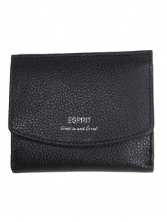 Esprit Damen Geldbörse Classic small wallet Leder Schwarz