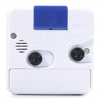 W&S 600104 Wecker Uhr weiß-blau Analog Licht Alarm - Vorschau 3