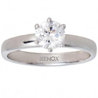 XENOX XS7356 Damen Ring Silver Circle Silber weiß 58 (18.5)