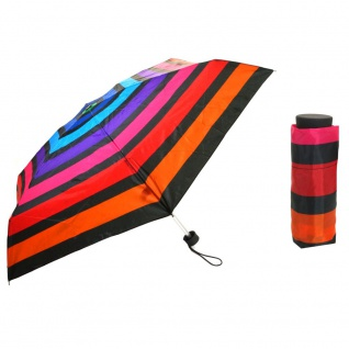 Flash Ultra Mini Flash printed mulitcolor stripe Regenschirm - Vorschau 1