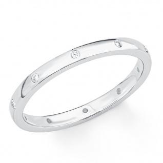 s.Oliver 2017201 Damen Ring Sterling-Silber 925 Silber Weiß 54 (17.2) - Vorschau 2