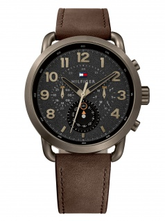 Tommy Hilfiger 1791425 BRIGS Uhr Herrenuhr Lederarmband Datum braun