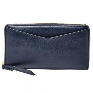 Fossil Geldbörse RFID CAROLINE Zip Blau SL7354-406 Damen Geldbeutel