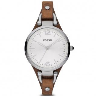 Fossil ES3060 Damenuhr Lederarmband Uhr Modell Georgia braun