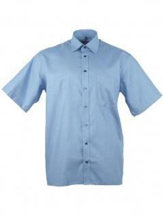 Eterna Herren Hemd Kurzarm Comfort Fit XL/44 Blau 3123/17/K198