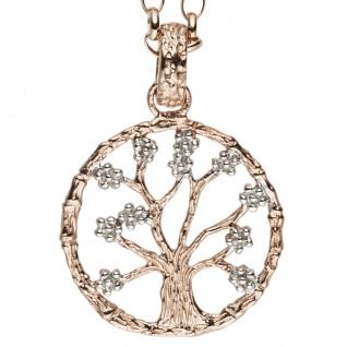 Julie Julsen® Damen Anhänger Lebensbaum rose Baum des Lebens
