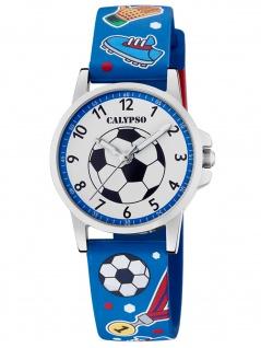 Calypso K5790/1 Fußball Uhr Junge Kinderuhr Kunststoff blau