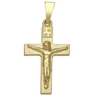 Basic Gold K20 Damen Anhänger Kreuz 14 Karat (585) Gelbgold