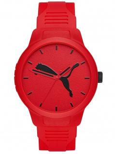 PUMA P5003 Uhr Herrenuhr Plastik rot