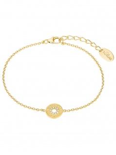 s.Oliver 2027621 Damen Armband Orientalisches Muster Gold weiß 20 cm