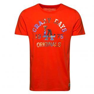 Jack & Jones Herren T-Shirt FLOW Tee Crew Neck Orange Gr. M