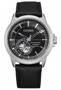 Citizen NH9120-11E Automatik Uhr Herrenuhr Lederarmband schwarz