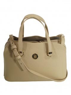 Tommy Hilfiger Damen Handtasche Tasche TH Core M Satchel Beige