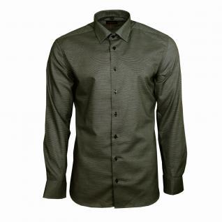 Eterna Herrenhemd Langarm Slim Fit Grau Strukturiert Hemd Gr. M/40