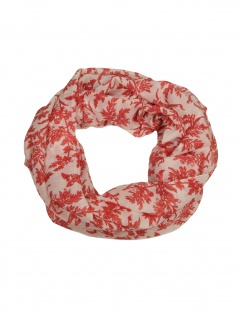 Esprit Damen Loop Schal Printed Infinity Polyester 168cm Rot