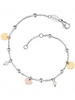 Engelsrufer ERB-LILJOY-PE-TR Damen Armband Silber Tricolor weiß 19 cm