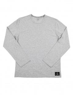 Calvin Klein Herren T-Shirt Langarm L/S Crew Neck NB1181E-080 Grau XL