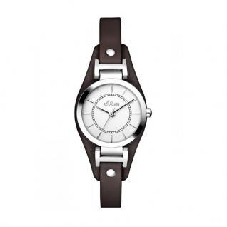 s.Oliver SO-2964-LQ Uhr Damenuhr Lederarmband Braun