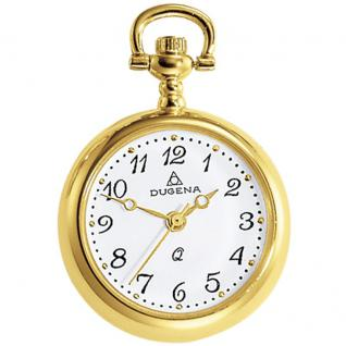 DUGENA 4287991 Taschenuhr mit Kette Uhr Damenuhr Analog gold