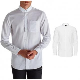Jack & Jones Herrenhemd Langarm COADRIEN Shirt One Pocket Weiß Gr. M