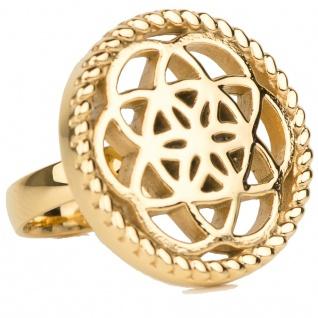 Traumfänger Damen Ring Blume gold 58 (18.5)