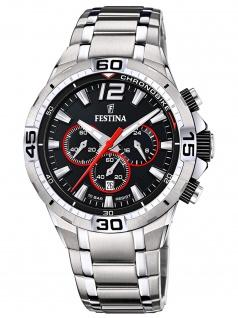 Festina F20522/6 Chronograph Uhr Herrenuhr Edelstahl Datum silber