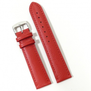 Condor Uhrenband 19187-20-60 Ersatzarmband 20 mm Kalbnappa rot