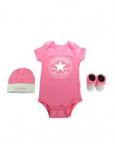 Converse Babykleidung Geschenkset 3er Gift Set Rosa 0-6 Monate