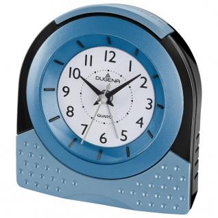 DUGENA 4460599 Wecker Alarm Analog schwarz silber blau