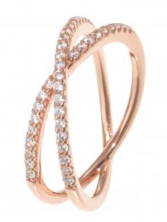 gooix 943-06736-580 Damen Ring Sterling-Silber 925 Rose weiß 58 (18.5)