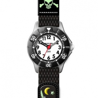 JACQUES FAREL KWD5556 Piraten Uhr Junge Kinderuhr Textil mehrfarbig
