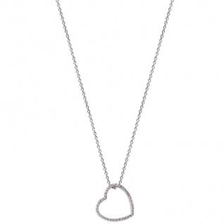 XENOX XS2777 Damen Collier Herz Love Story Silber weiß 47 cm