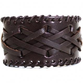 CJBB1942 Herren Armband Leder braun 21, 5 cm